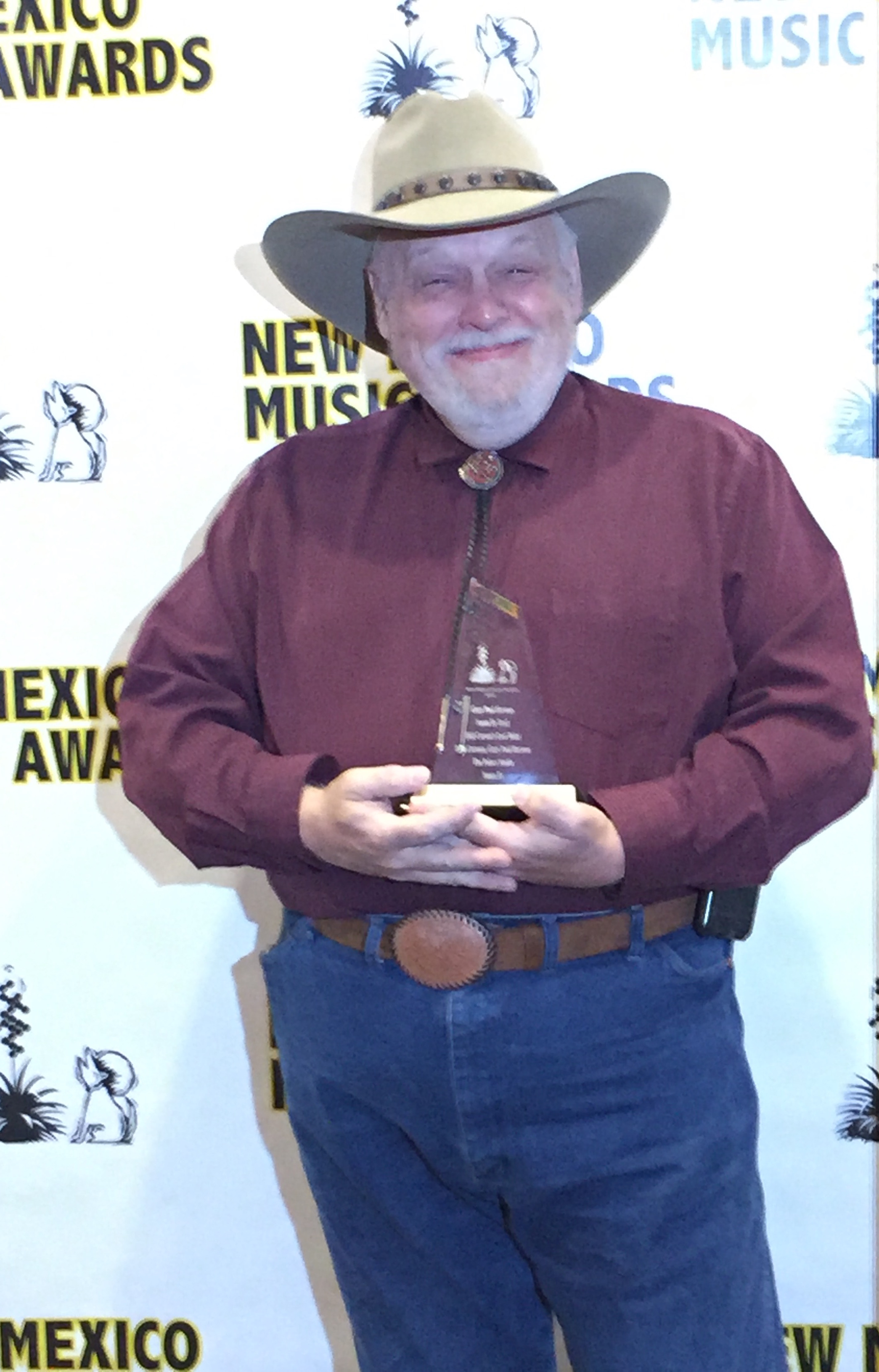photo: Gary Paul with 2016 New Mexico Music Award